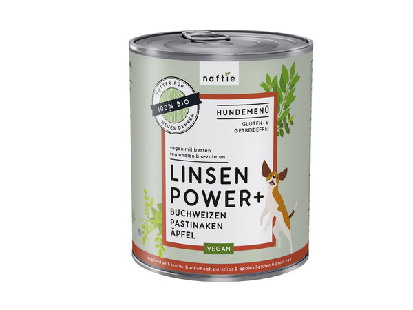 naftie Bio Linsen Power+ 800g
